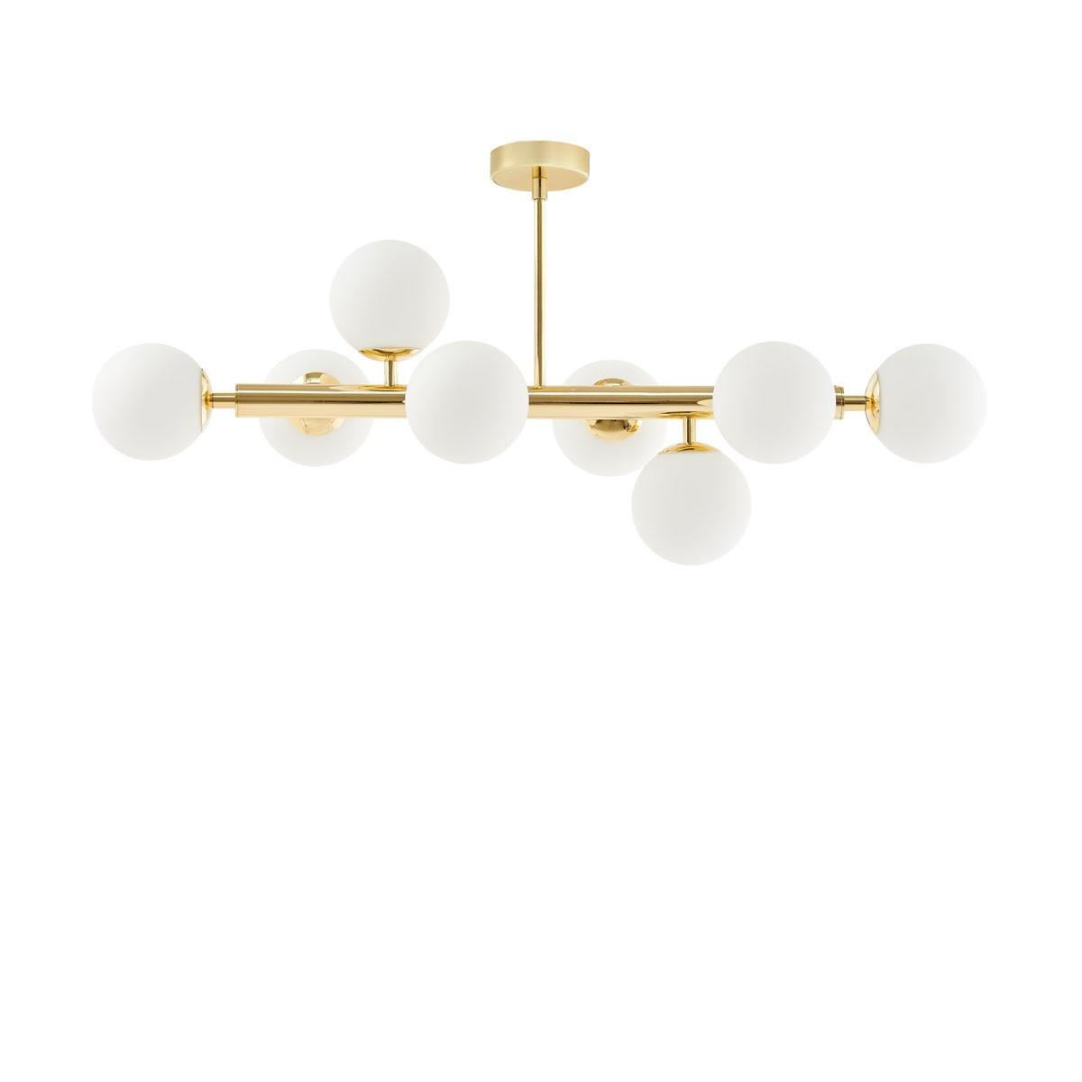 Złota lampa przysufitowa CUMULUS 3 złoty żyrandol osiem