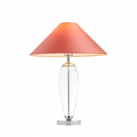 Coral floor lamp REA coral lampshade, transparent glass and chrome base KASPA