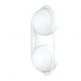 Double wall lamp KOBAN E white oval frame and white glass balls UMMO