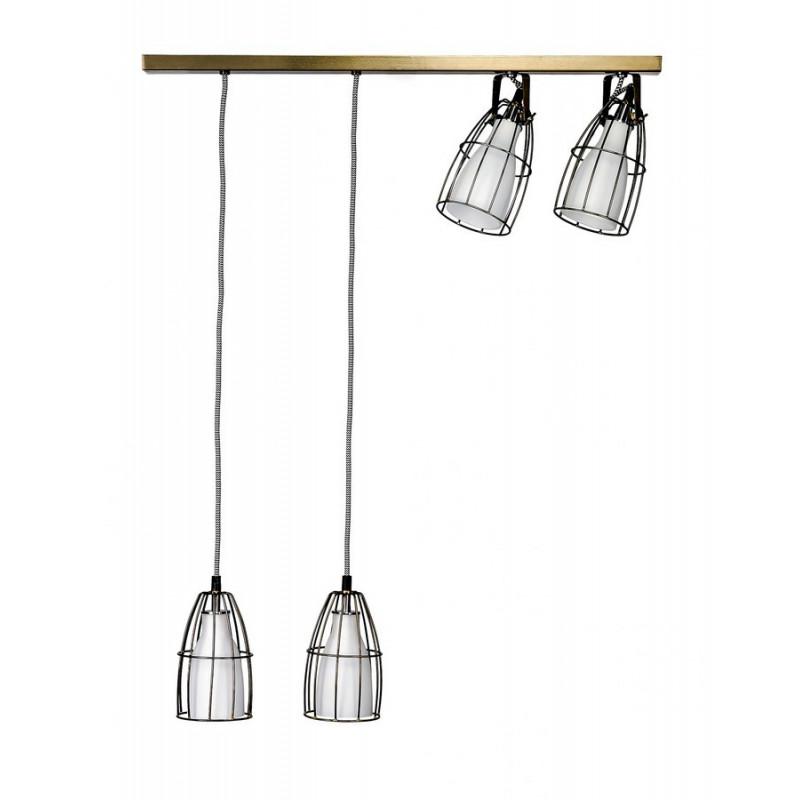 Frame rail light Ceiling Lamp White/Steel/Black-White