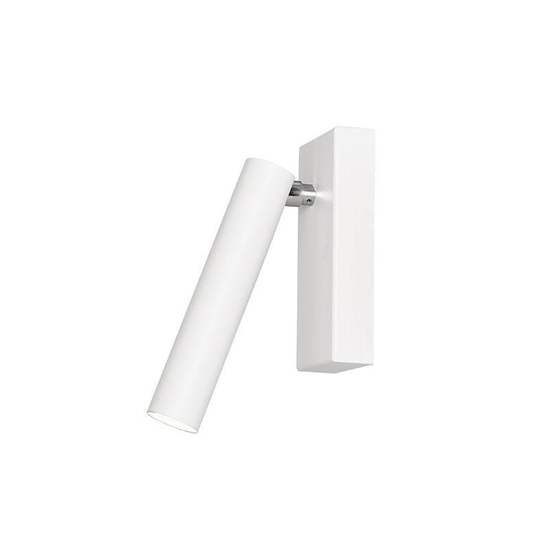 Biała lampa ścienna ROLL 1 biały kinkiet ze zintegrowanym panelem LED KASPA
