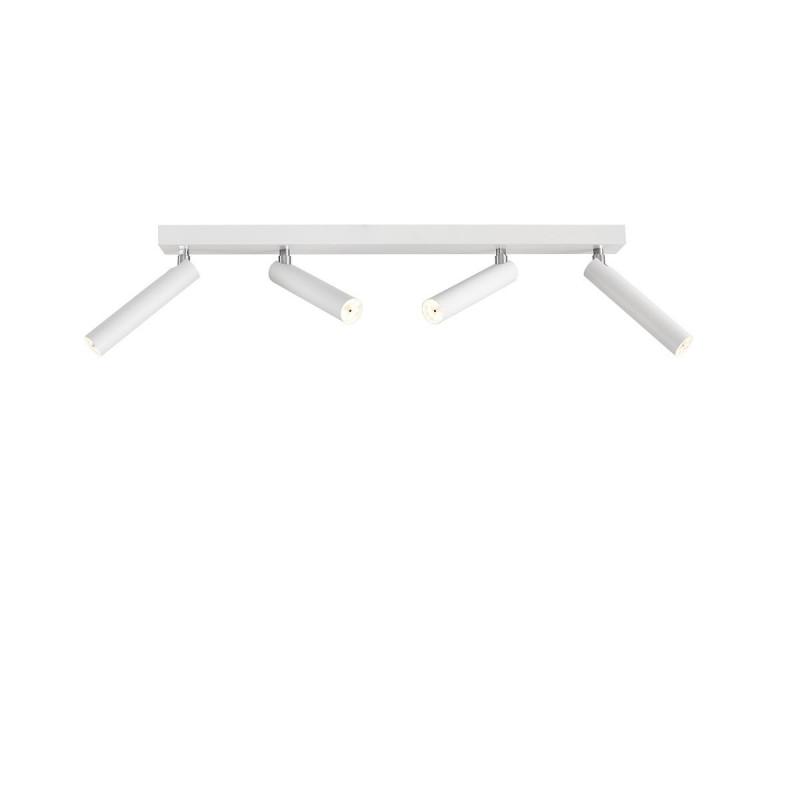 Biała lampa sufitowa ROLL 4 listwa ze zintegrowanym panelem LED KASPA
