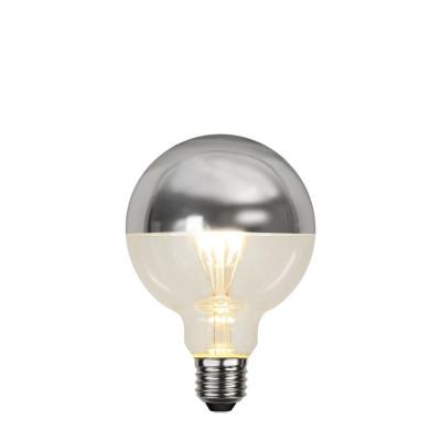 TOP COATED srebrna żarówka dekoracyjna LED G95 4W ściemnialna 2700K Star Trading