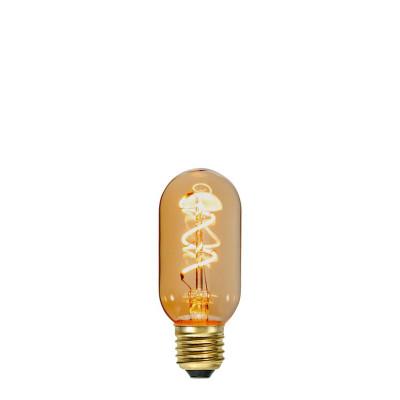 Dekoracyjna żarówka LED ściemnialna Tube T45 3W 2100K bursztynowe szkło Star Trading