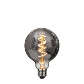 DECOLED SPIRAL SMOKE decorative bulb with black glass LED G95 4W dimmable 2100K Star Trading