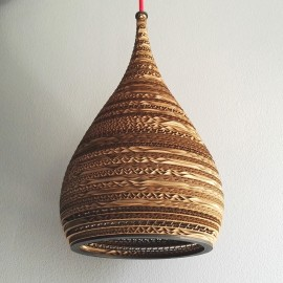 Sufitowa lampa wisząca z tektury CONE S lampa ekologiczna SOOA