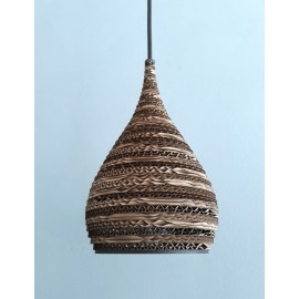 Ceiling hanging lamp made of cardboard CONE XS ecological lamp SOOA