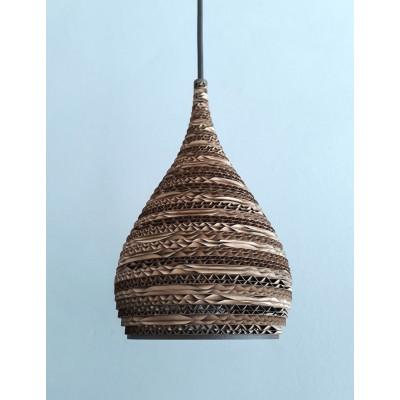 Sufitowa lampa wisząca z tektury CONE XS lampa ekologiczna SOOA