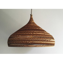 Ceiling hanging lamp made of cardboard CONE M ecological lamp SOOA