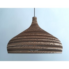 Ceiling hanging lamp made of cardboard CONE XL ecological lamp SOOA