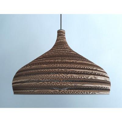 Sufitowa lampa wisząca z tektury CONE XL lampa ekologiczna SOOA