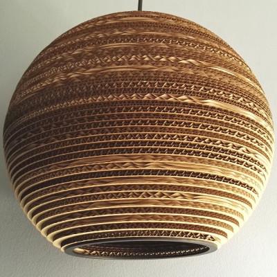 Sufitowa lampa wisząca z tektury SFERA 35 lampa ekologiczna SOOA