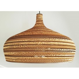 Ceiling white hanging lamp from cardboard DOME ecological lamp SOOA