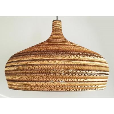 Sufitowa lampa wisząca z tektury DOME lampa ekologiczna SOOA