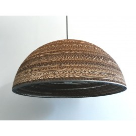 Ceiling hanging lamp from cardboard HEMISPHERE 45 ecological lamp SOOA