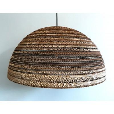 Sufitowa lampa wisząca z tektury HEMISPHERE 55 lampa ekologiczna SOOA