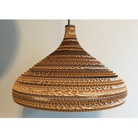 Ceiling hanging lamp made of cardboard CONE L ecological lamp SOOA