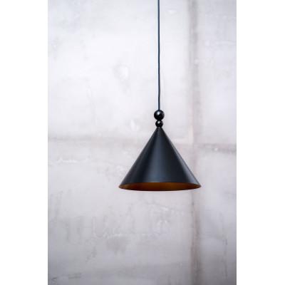 Black pendant lamp KONKO MONO black shade diameter 30cm LOFTLIGHT