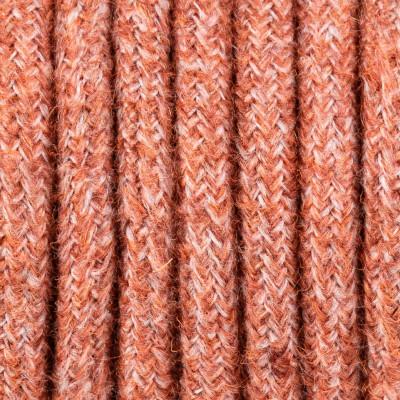 Koralowy kabel w oplocie moherowym M01 Krystyna dwużyłowy 2x0.75 Kolorowe Kable