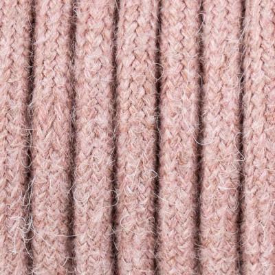 Bladoróżowy kabel w oplocie moherowym M04 Helena dwużyłowy 2x0.75 Kolorowe Kable