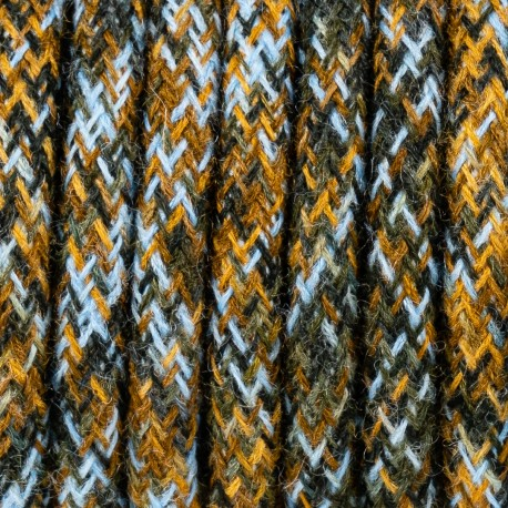 Green mohair cable M08 Genowefa two-core 2x0.75 Kolorowe Kable