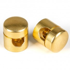 Large cable grip for surface-mounted installation Brass cable clamp in raw brass color Kolorowe Kable