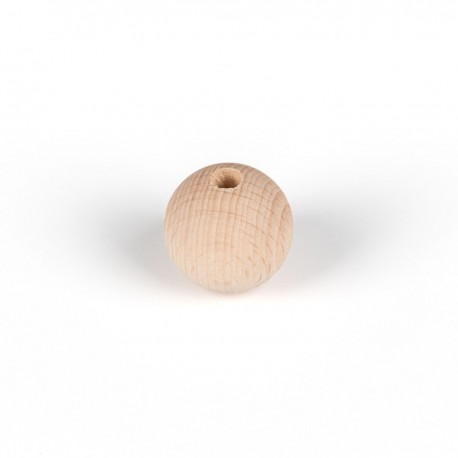 Decorative wooden ball for lamps fi 30mm with an inner hole 7mm bead 2x0,75mm Kolorowe Kable