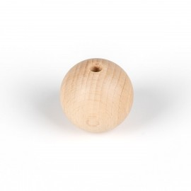 Decorative wooden ball for lamps fi 40mm with an inner hole 7mm bead 2x0,75mm Kolorowe Kable
