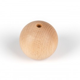 Decorative wooden ball for lamps fi 50mm with an inner hole 7mm bead 2x0,75mm Kolorowe Kable