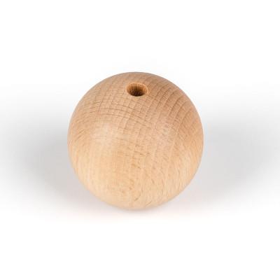 Dekoracyjna drewniana kulka do lamp fi 50mm z otworem wewnętrznym 7mm koralik na przewód 2x0,75mm Kolorowe Kable