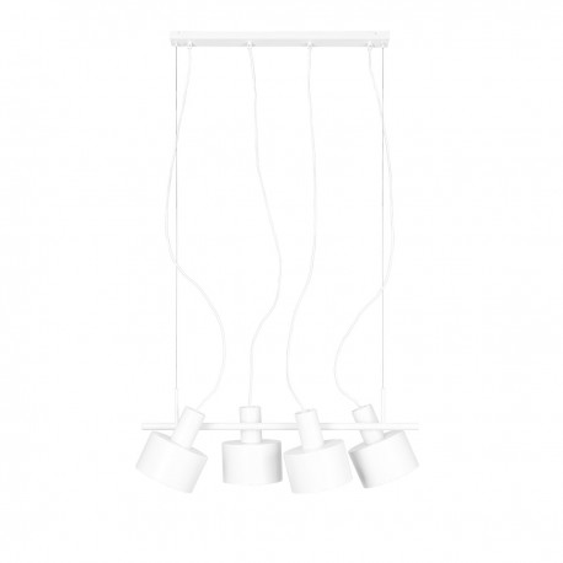 Large white ceiling hanging lamp ENKEL 4 with adjustable lighting direction UMMO