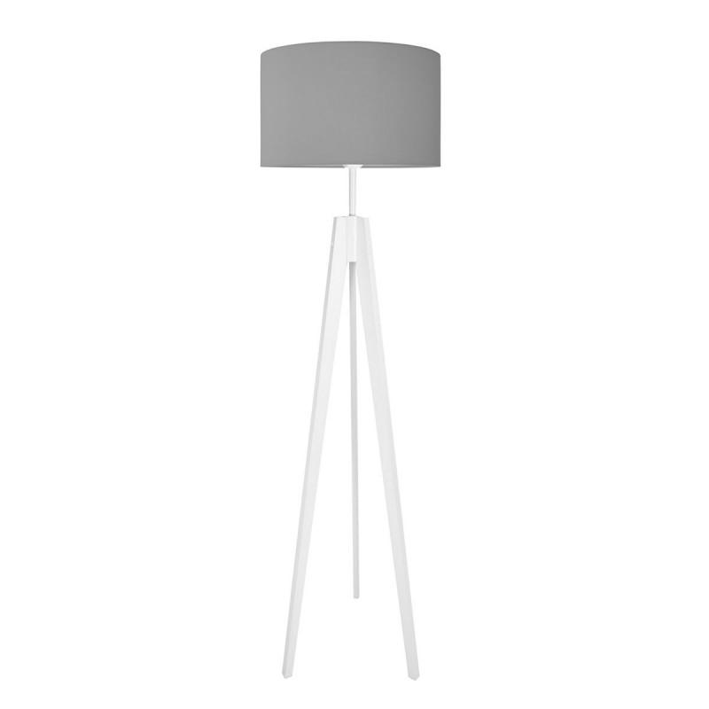 Lampa podłogowa z abażurem czysta szarość Kolekcja Made by Colors youngDECO