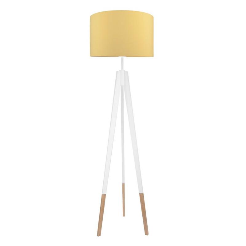 Lampa podłogowa z abażurem musztardowa Kolekcja Made by Colors youngDECO