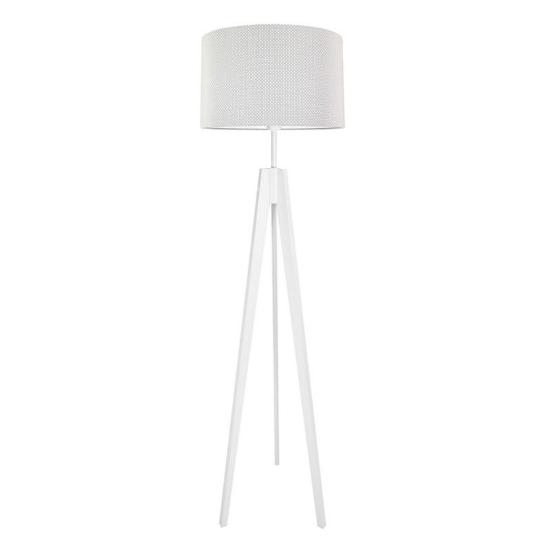 Lampa podłogowa abażur w kropeczki na szarym kolekcja Elegance youngDECO