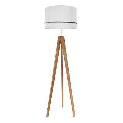 Lampa podłogowa abażur porcelanowy szary kolekcja Elegance youngDECO