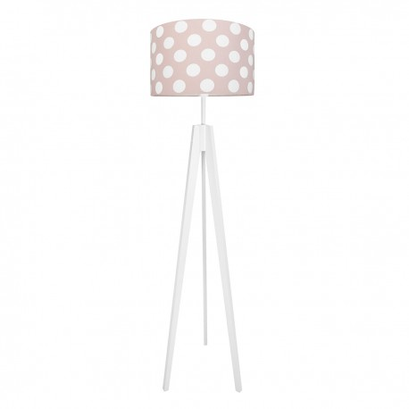 Dots on dirty pink floor lamp