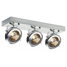 Visio 3 Spotlights Rail Chrome