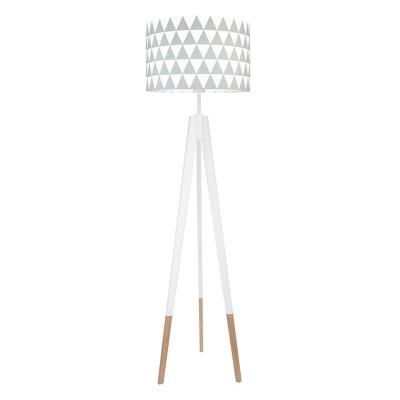 Lampa podłogowa abażur w trójkąty szare kolekcja SCANDINAVIAN youngDECO