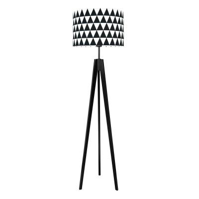 Lampa podłogowa trójkąty czarne