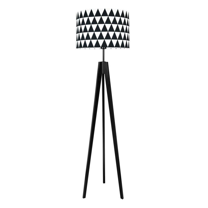 Lampa podłogowa abażur w trójkąty czarne kolekcja SCANDINAVIAN youngDECO