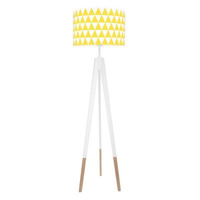 Lampa podłogowa abażur w trójkąty żółte kolekcja SCANDINAVIAN youngDECO