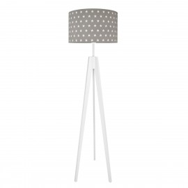 WHITE STARS ON GREY Floor Lamp