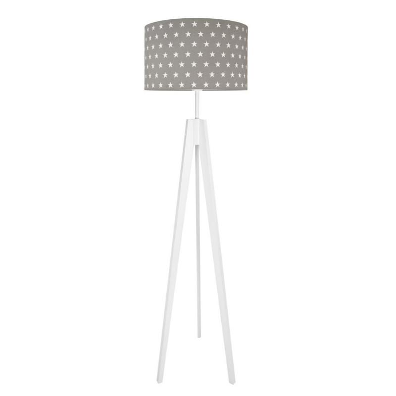 Lampa podłogowa abażur w gwiazdki na szarym kolekcja SCANDINAVIAN youngDECO
