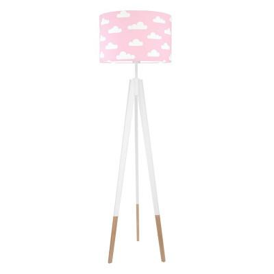 Lampa podłogowa chmurki na różowym