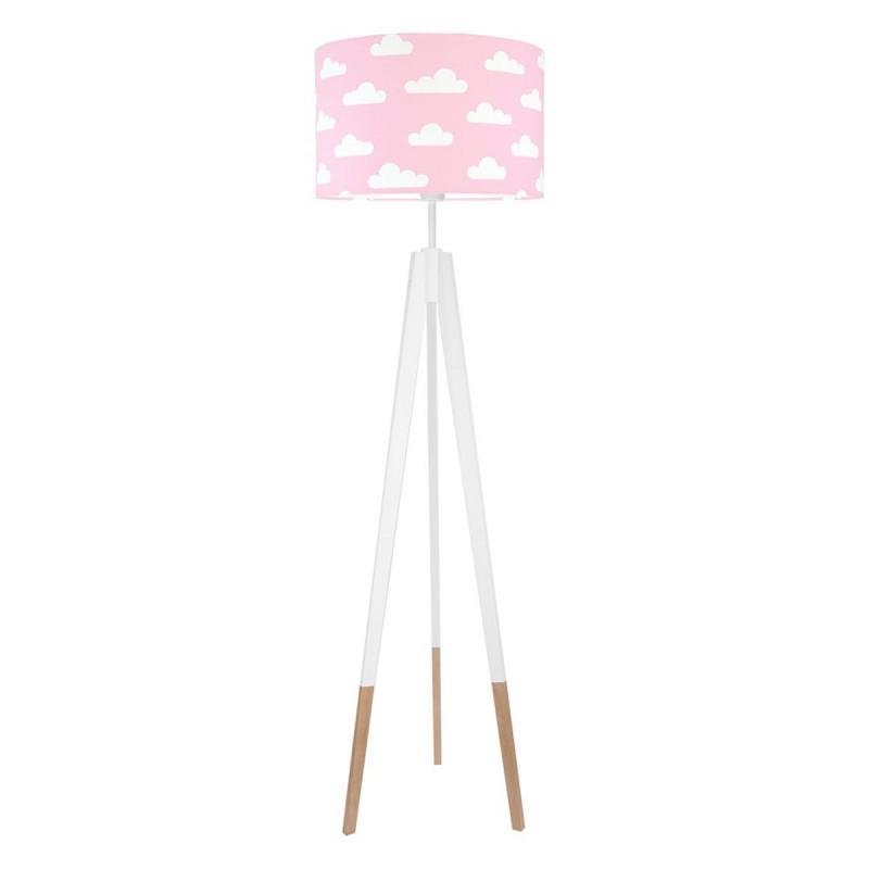 Lampa podłogowa abażur w chmurki na różowym kolekcja SCANDINAVIAN youngDECO