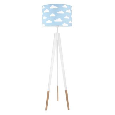 Lampa podłogowa abażur w chmurki na błękitnym kolekcja SCANDINAVIAN youngDECO