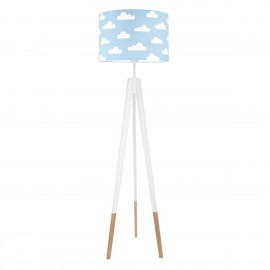 WHITE CLOUDS ON LIGHT BLUE Floor Lamp
