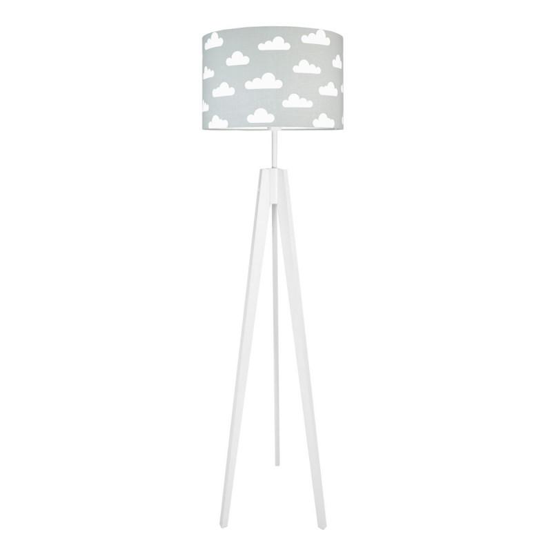 Lampa podłogowa abażur w chmurki na szarym kolekcja SCANDINAVIAN youngDECO