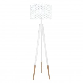 Grey Dots Floor Lamp