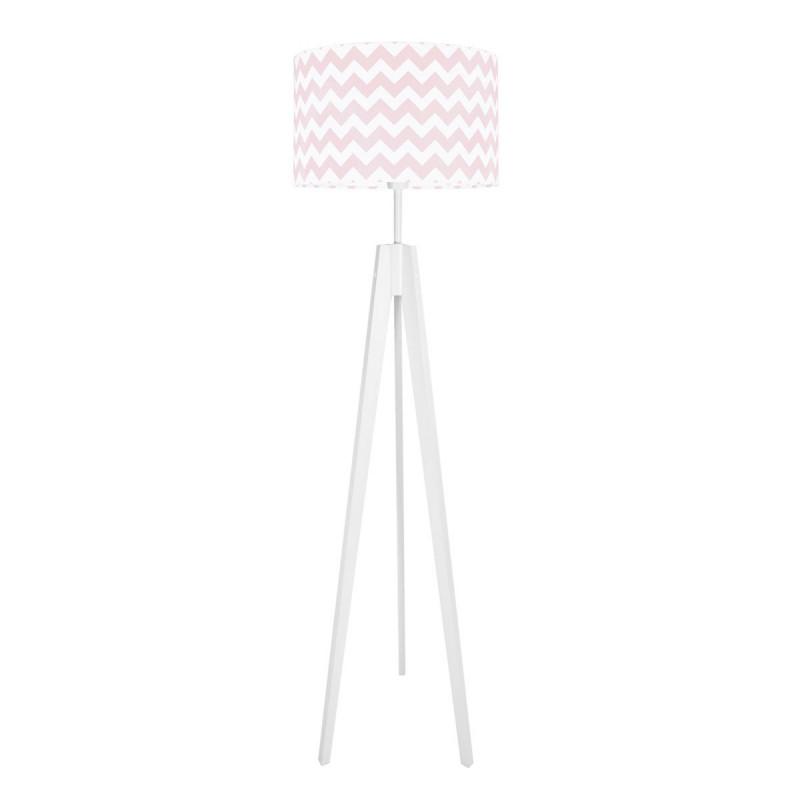 Lampa podłogowa abażur chevron różowy kolekcja NEW YORK youngDECO